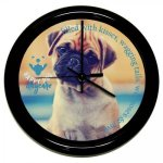 Round Clock with Black Frame Boss Gift Awards